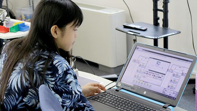 EV3ソフトウェアと小学生