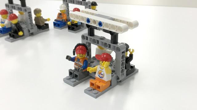 LEGOのミニフィグが乗ったゴンドラ
